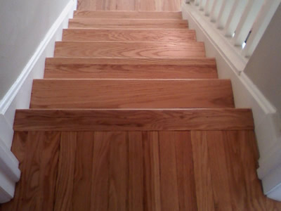 Refinished Red Oak Stairs