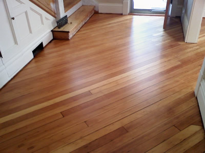 refinished southern yellow pine floor