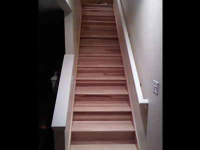 Hickory staircase